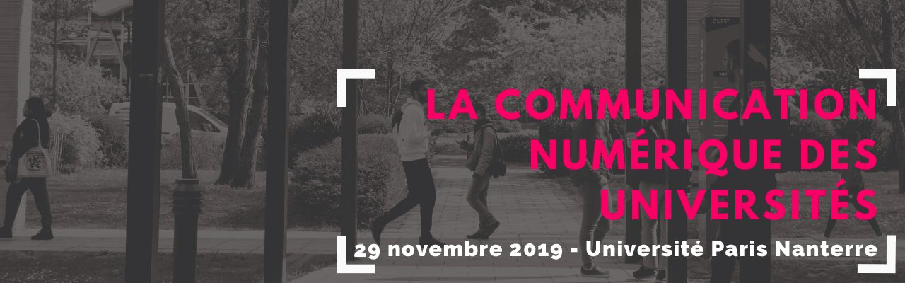 Automne 2019 : La communication numérique des Universités